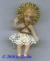 Segnendes Jesuskind, echt-Haar, 5cm