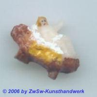 Wachsjesulein in der Krippe, 2cm
