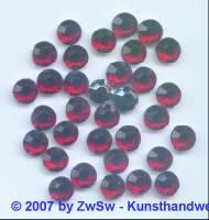 10 Strasssteine aus Acrylglas in dunkelrot, Ø 8mm