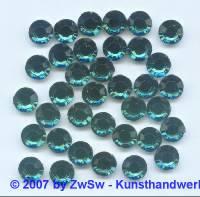 10 Strasssteine aus Acrylglas in grün, Ø 8mm