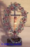 Christus im Blütenbogen