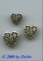 modischer Knopf in Herzform, Ø 15mm