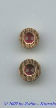 Trachtenknopf, rot Ø 11mm
