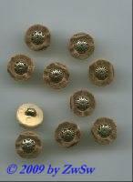 Trachtenknopf, Ø 13mm, mit Metalleinsatz
