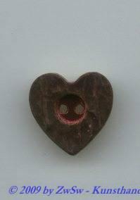 Trachtenknopf, Ø 20mm, rot