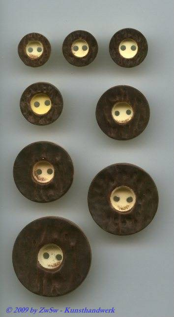 Trachtenknopf, natur Ø 11mm