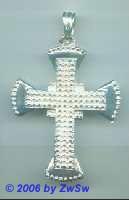 Kreuz versilbert