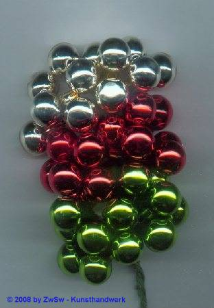 10 Glaskugeln silber 15 mm