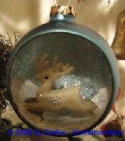 Glaskugel mit Hirsch