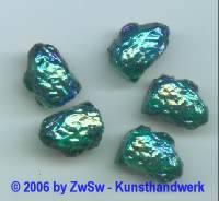 1 Lavastein, smaragd/AB 18mm x 13mm