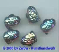 1 Lavastein, amethyst/AB 18mm x 13mm