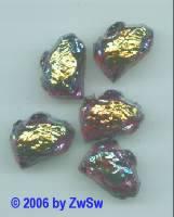 1 Lavastein, rubin/AB 18mm x 13mm