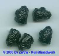1 Lavastein, schwarz 18mm x 13mm