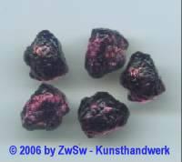 1 Lavastein, amethyst 12mm x 10mm