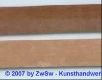 Velourlederband braun, 1 Meter