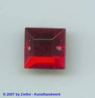 Strass/quadr. Glas 12x12 (rot) 1 Stück