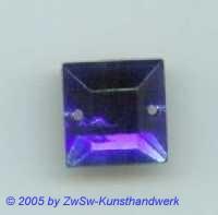 Strass/quadratisch, 12mm x 12mm (blau) 1 Stück