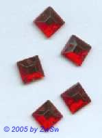 Strass/quadratisch, 8mm x 8mm (rot) 1 Stück