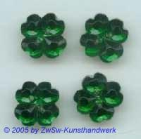 Strassstein als Kleeblatt (dunkelgrün) 1 Stück