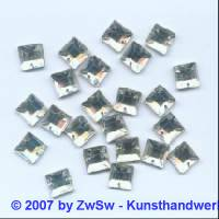 Strass/quadratisch, 8mm x 8mm (kristall)  1 Stück