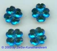 Strassstein als Kleeblatt (blau) 1 Stück
