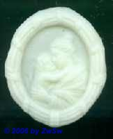 Medaillon: Mutter Anna, 7,5cm x 6,5cm
