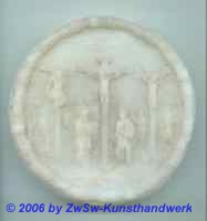 Medaillon: Die Kreuzigung, Ø 7,5cm