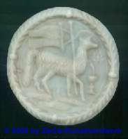 Medaillon: Agnus Dei, Ø 8,5cm