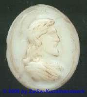 Medaillon; ca. 2,5cm x 2cm