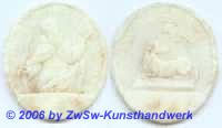 Medaillon: Doppelseitiges Agnus Dei, 5,5cm x 5cm