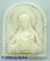 Medaillon: Herz Maria; ca. 3cm x 2,5cm