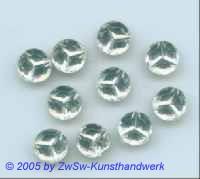 1 Strassstein facettiert und geprägt, Ø 8mm, kristall