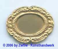 Messingteller oval 1 Stück, 43mm x 32mm