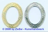 Metallrahmen, 79mm x 64mm, 1 Stück, gold