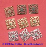 Metallelement, verzinnt, 14mm x 14mm, 1 Stück