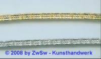 Metallband, 5mm, gold 10 cm