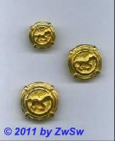 Metallknopf, Ø 21mm, gold/Pferd