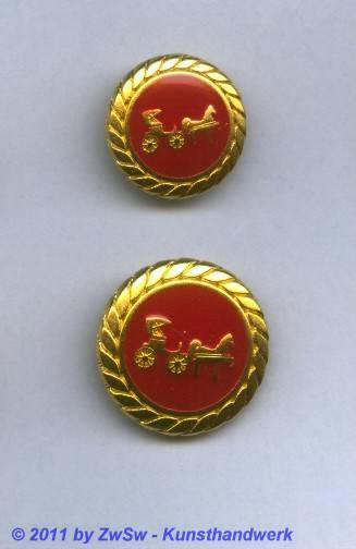Metallknopf, Ø 22mm, gold/rot