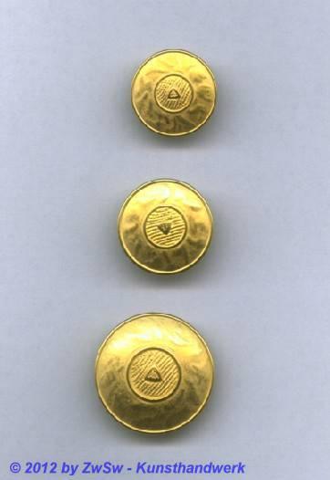 Metallknopf, Ø 18mm, gold