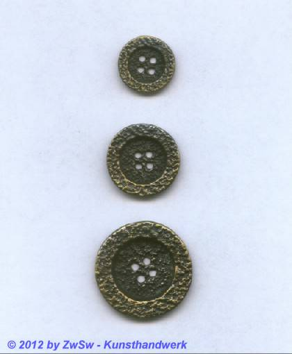 Metallknopf, Ø 17mm, Messing patiniert