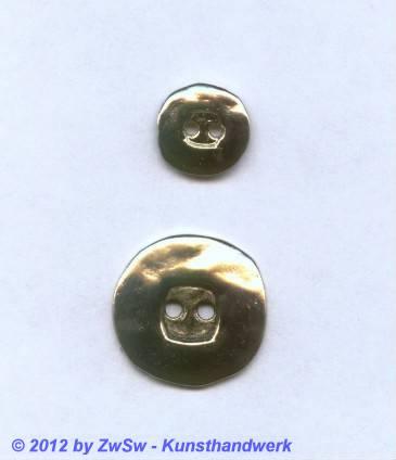 Metallknopf, Ø 15mm, platin