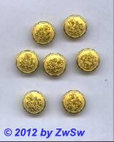 Metallknopf, Ø 16mm, gold