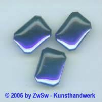 Muggelstein dunkelblau, 18mm x 13mm, 1 Stück