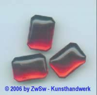 Muggelstein rubin, 18mm x 13mm, 1 Stück