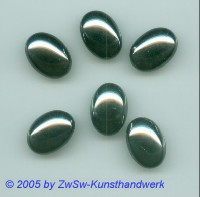 Muggel-Stein 1 Stück, 8mm x 6mm  (schwarz/AB)