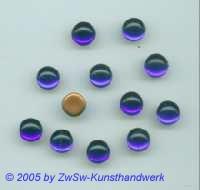 Muggel-Stein 1 Stück, Ø 9mm  (blau)