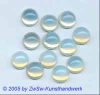 Muggel-Stein 1 Stück, Ø 16mm  (opal)
