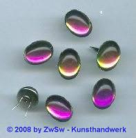 Strassstein Splint silber, 14mm x 10mm, (vitrail), 1 Stück