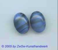 1 Muggel-Stein 18mm x 13mm (blau/marmoriert)