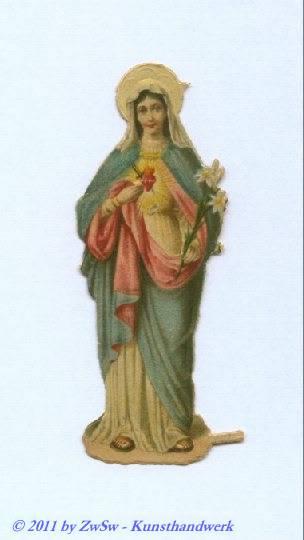 Herz Maria stehend